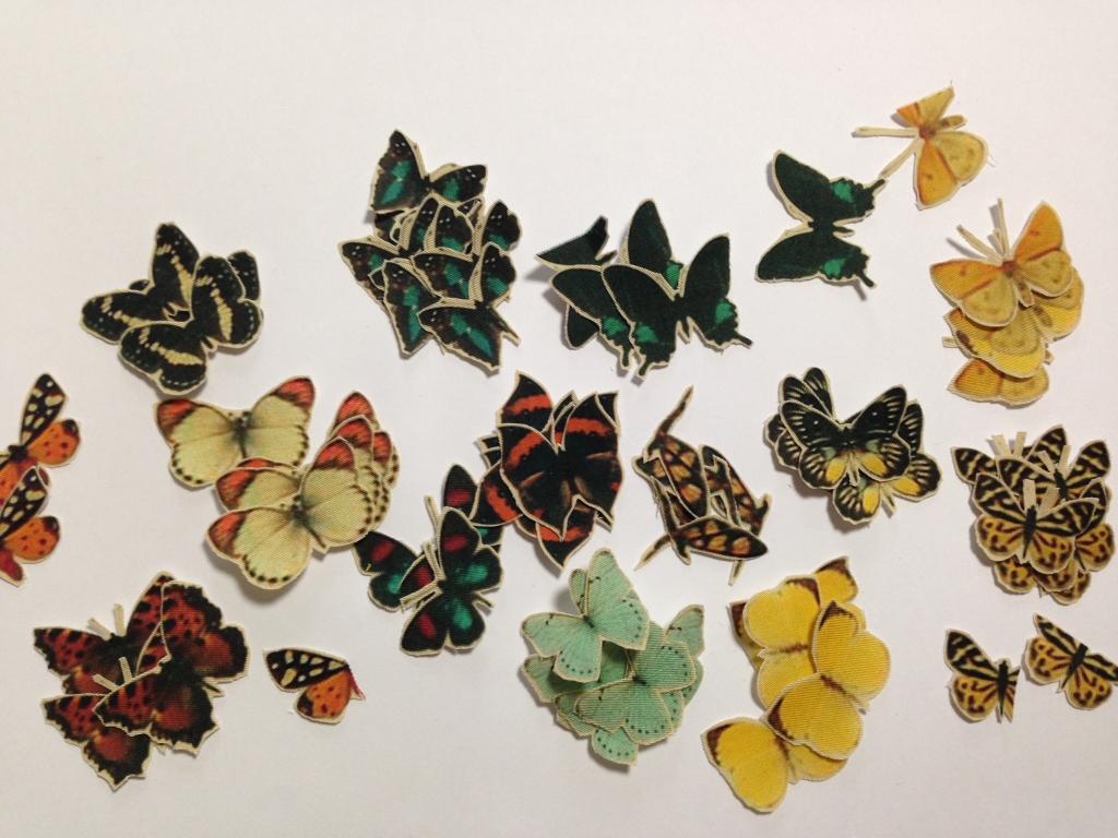 蝶々を手作業でカット